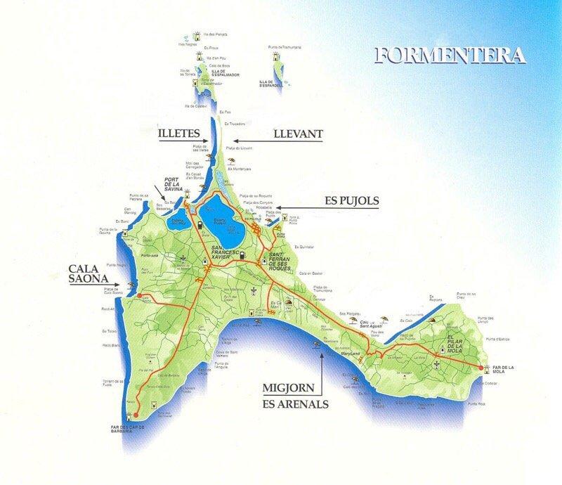 Cartina Spiagge Veneto.Formentera Quali Sono Le Spiagge Piu Belle Dell Isola